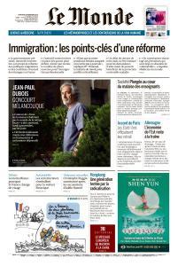 Le Monde du Mercredi 6 Novembre 2019