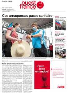 Ouest-France Édition France – 21 août 2021