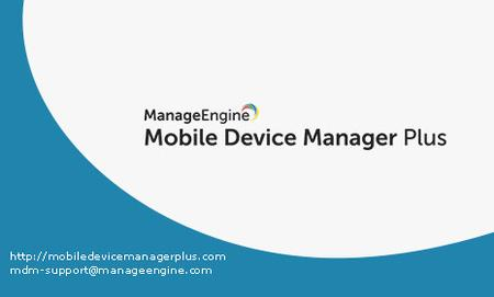 ManageEngine Mobile Device Manager Plus 9.2.0 Build 92663 Professional