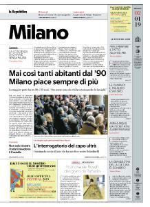 la Repubblica Milano - 2 Gennaio 2019