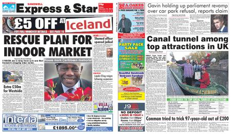 Express and Star Sandwell Edition – February 15, 2019