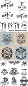 Vectors - Sport Retro Labels 3