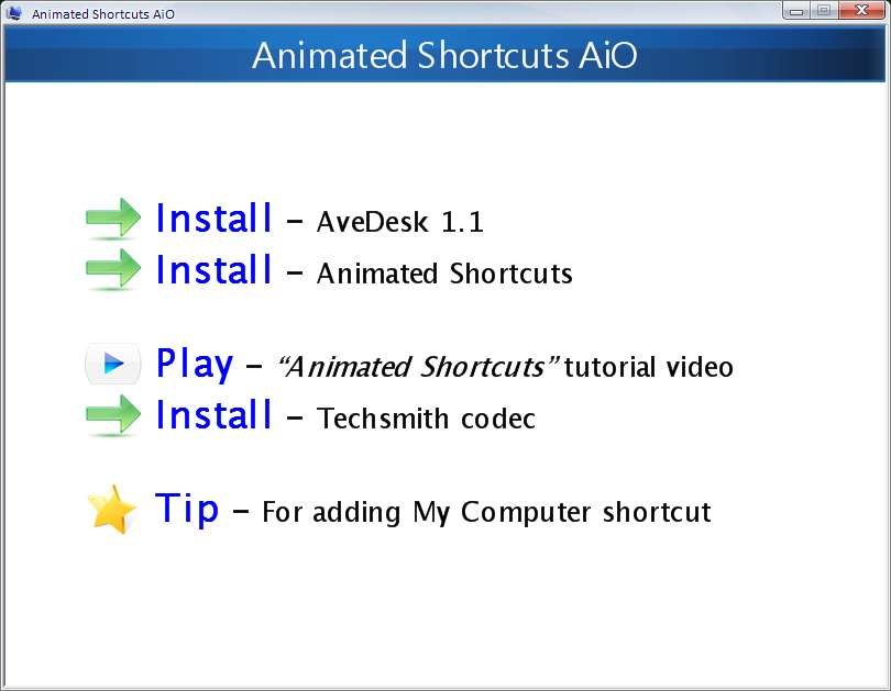 Animated Shortcuts AiO