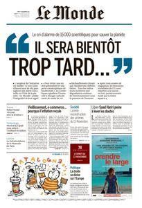Le Monde du Mardi 14 Novembre 2017