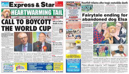 Express and Star Sandwell Edition – March 16, 2018