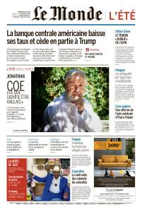 Le Monde du Vendredi 2 Août 2019