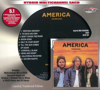 America - Homecoming (1972) [Audio Fidelity 2015] MCH PS3 ISO + Hi-Res FLAC