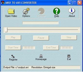MKV to AVI Converter 3.0.018
