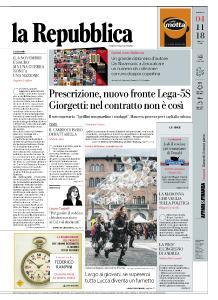 la Repubblica - 4 Novembre 2018