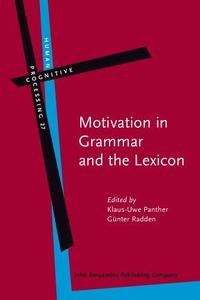 Motivation in Grammar and the Lexicon (Human Cognitive Processing)