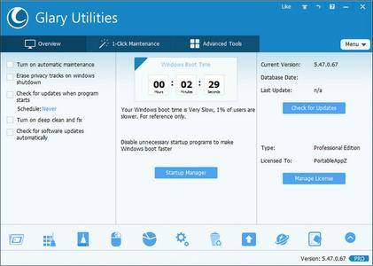 Glary Utilities Pro 5.92.0.114 DC 22.02.2018 Multilingual + Portable