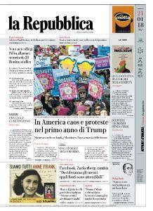 la Repubblica - 21 Gennaio 2018