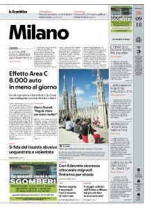 la Repubblica Milano - 26 Settembre 2018