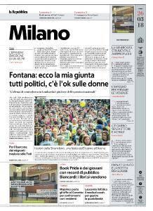 la Repubblica Milano - 26 Marzo 2018