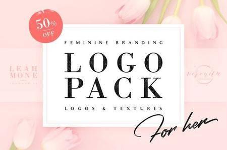 CreativeMarket - 120 Feminine Branding Logos