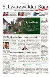Schwarzwälder Bote St. Georgen, Triberg, Furtwangen - 30. Mai 2018
