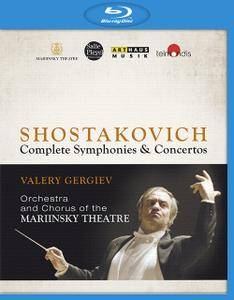 Valery Gergiev, Orchestra and Chorus of the Mariinsky Theatre - Shostakovich: Complete Symphonies & Concertos (2015) [Blu-Ray]