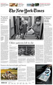 International New York Times - 10 August 2020