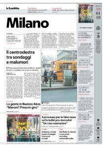 la Repubblica Milano - 10 Gennaio 2018