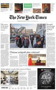 International New York Times - 2-3 December 2017