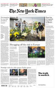 International New York Times - 12 August 2020