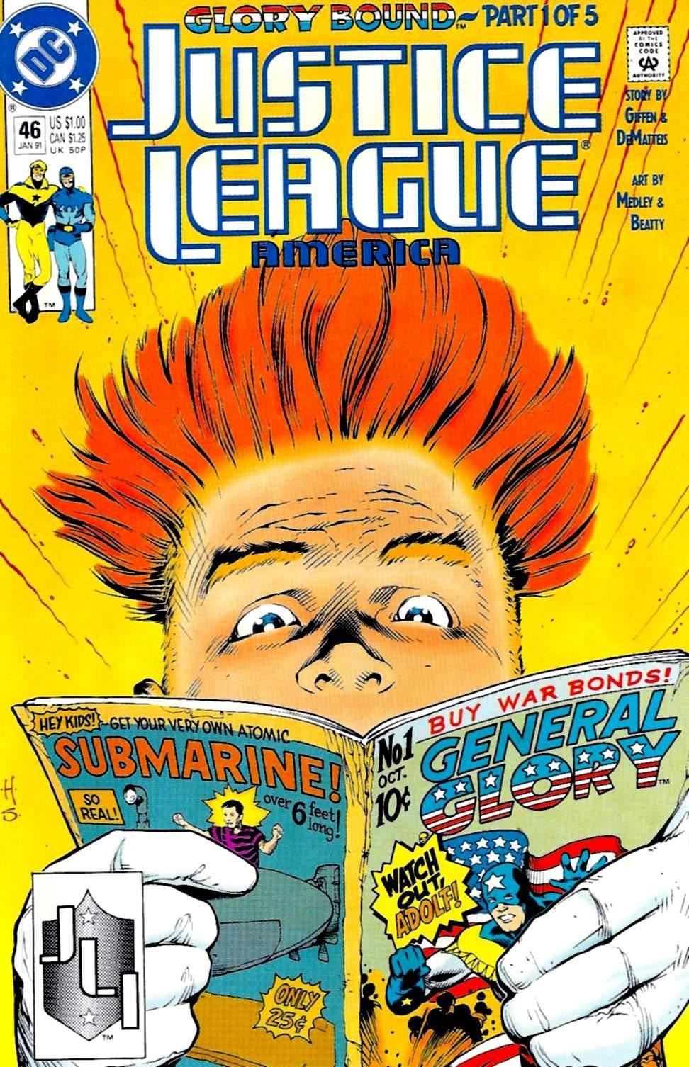 For PostalPops - Justice League America 046 1991 cbr