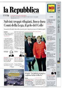 la Repubblica - 6 Luglio 2018
