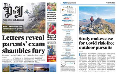 The Press and Journal Moray – October 26, 2020