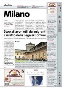 la Repubblica Milano - 5 Novembre 2018