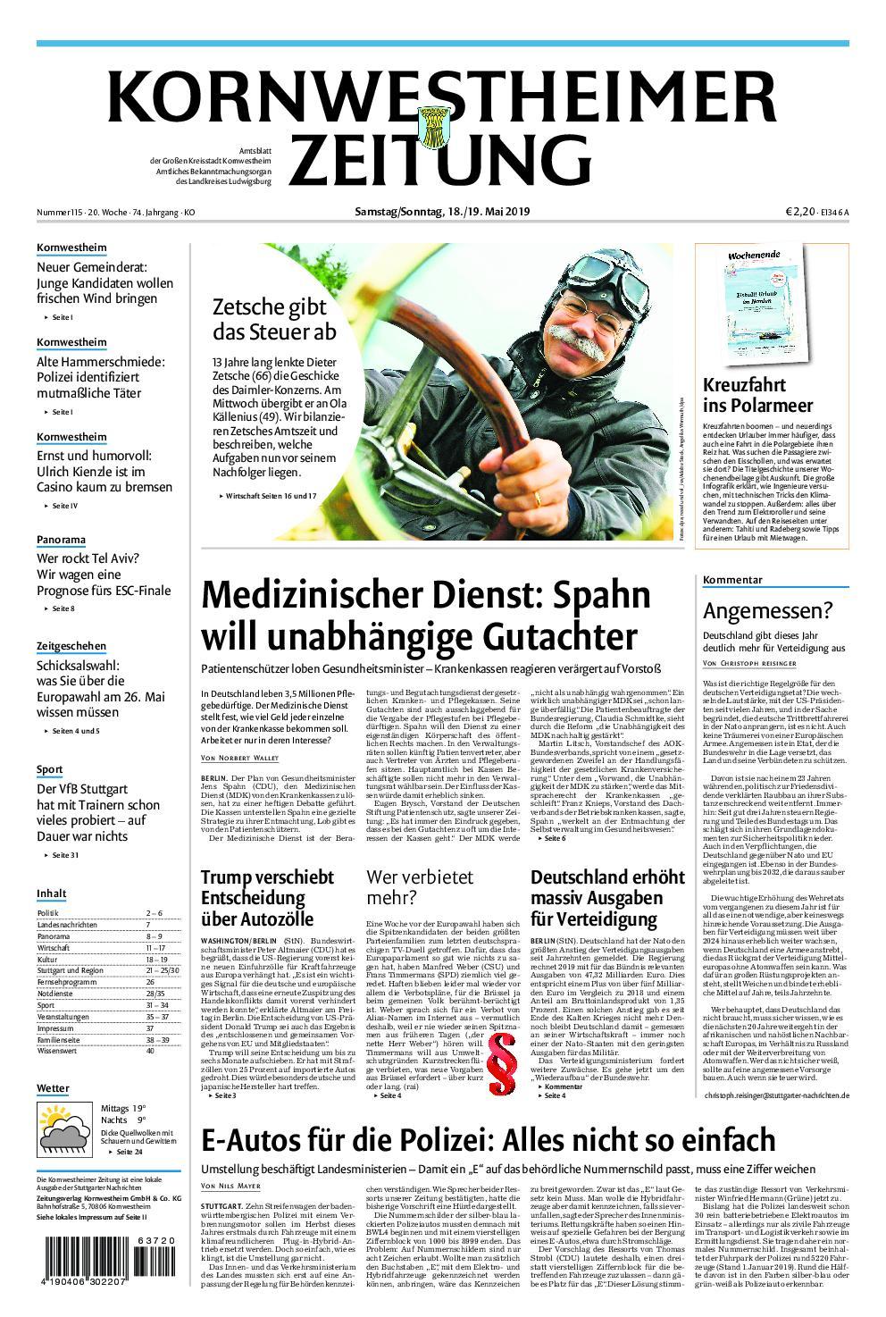 Kornwestheimer Zeitung - 18. Mai 2019