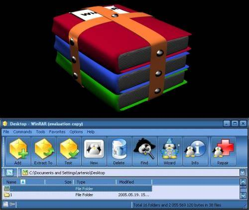 WinRAR Complete Pack 2006 (WinRAR Versions + Winrar Themes)