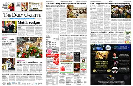 The Daily Gazette – December 21, 2018