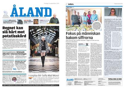 Ålandstidningen – 20 september 2019