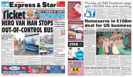Express and Star Sandwell Edition – October 20, 2017