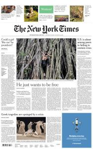 International New York Times - 8-9 August 2020