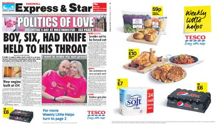 Express and Star Sandwell Edition – February 14, 2019