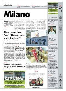 la Repubblica Milano - 21 Luglio 2018