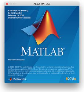 MathWorks MATLAB R2018a (9.4.0.813654) macOS