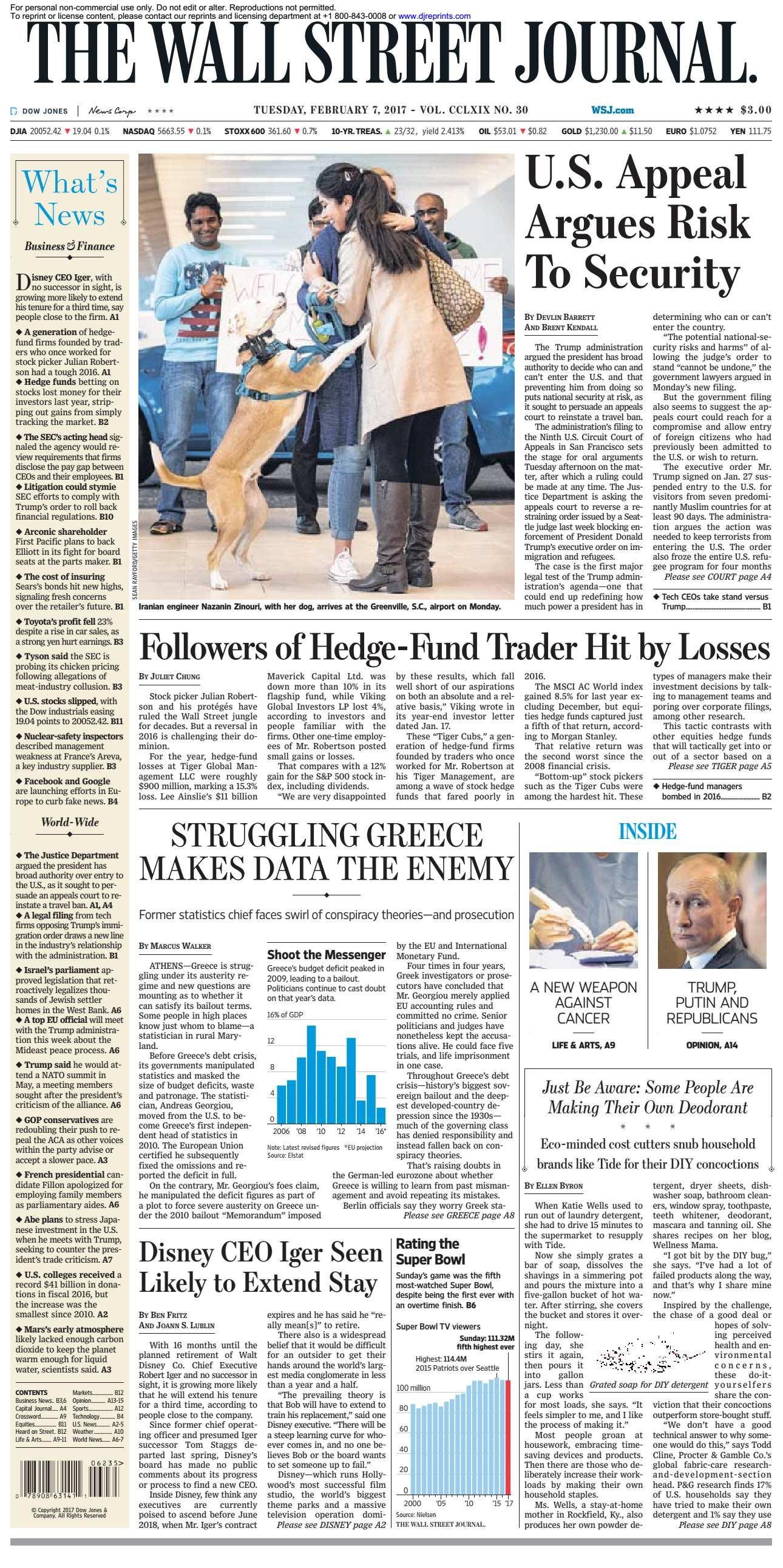 The Wall Street Journal  February 07 2017
