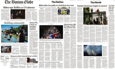 The Boston Globe – July 27, 2021