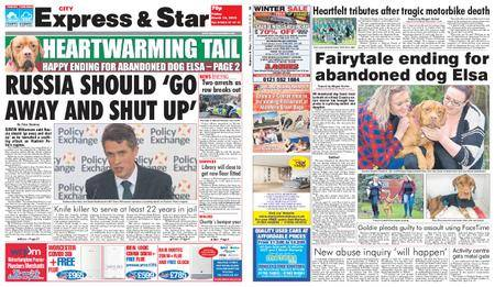 Express and Star City Edition – March 16, 2018