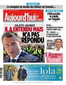Aujourd'hui en France du Mercredi 28 Novembre 2018