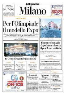 la Repubblica Milano - 2 Gennaio 2020