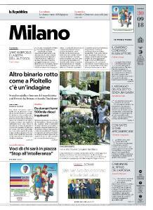 la Repubblica Milano - 30 Settembre 2018