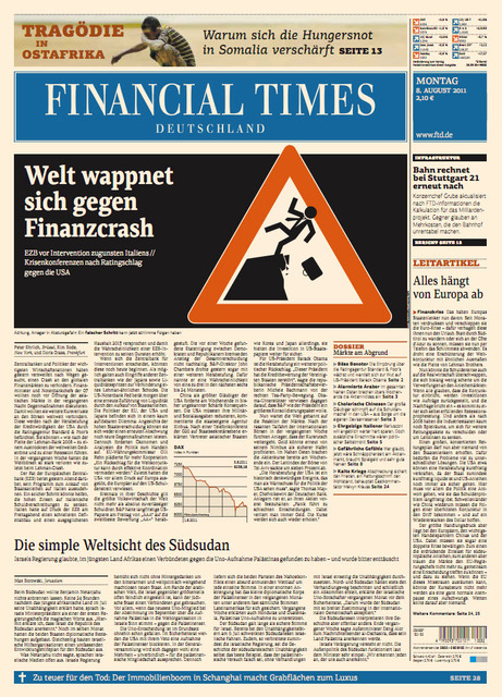 Financial Times Deutschland vom 08 August 2011