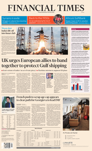 Financial Times Europe – 23 July 2019