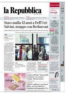 la Repubblica - 21 Aprile 2018