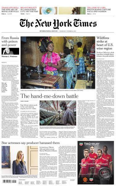 International New York Times - October 12, 2017