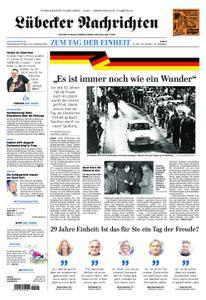 Lübecker Nachrichten Ostholstein Nord - 03. Oktober 2019