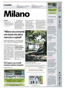 la Repubblica Milano - 26 Luglio 2018